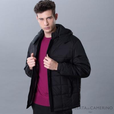 ROBERTA諾貝達 簡約休閒 鋪棉條紋夾克外套 黑色