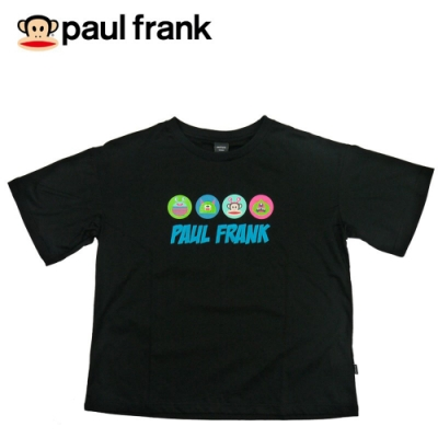 paul frank Monster印花電繡剪裁短T-黑(女)
