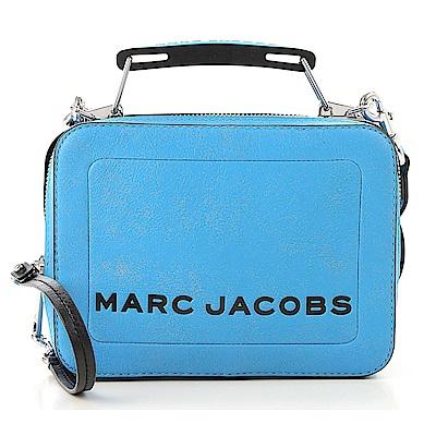MARC JACOBS THE BOX 20 仿舊皮革手提/肩背兩用包(小款/天空藍)