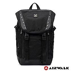 【AIRWALK】再現榮耀黑金後背包-黑色
