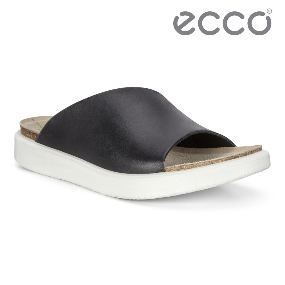 ECCO CORKSPHERE SANDAL W 春夏休閒平底涼拖鞋 女鞋 黑