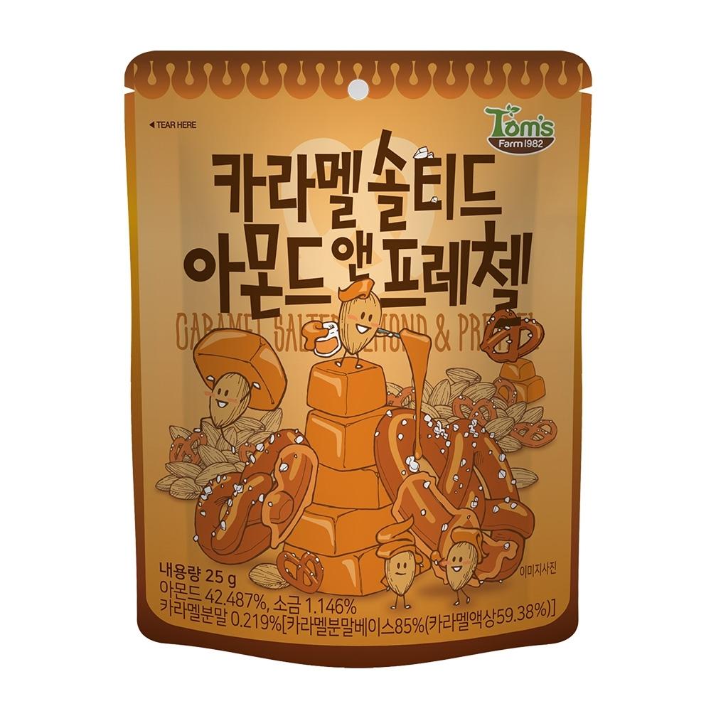 韓國Toms Gilim 焦糖杏仁果與蝴蝶餅(25g)
