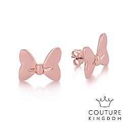 Disney Jewellery by Couture Kingdom米妮蝴蝶結玫瑰金耳釘