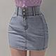 AIR SPACE 零修圖翹臀高腰顯瘦涼感牛仔短裙(藍) product thumbnail 2