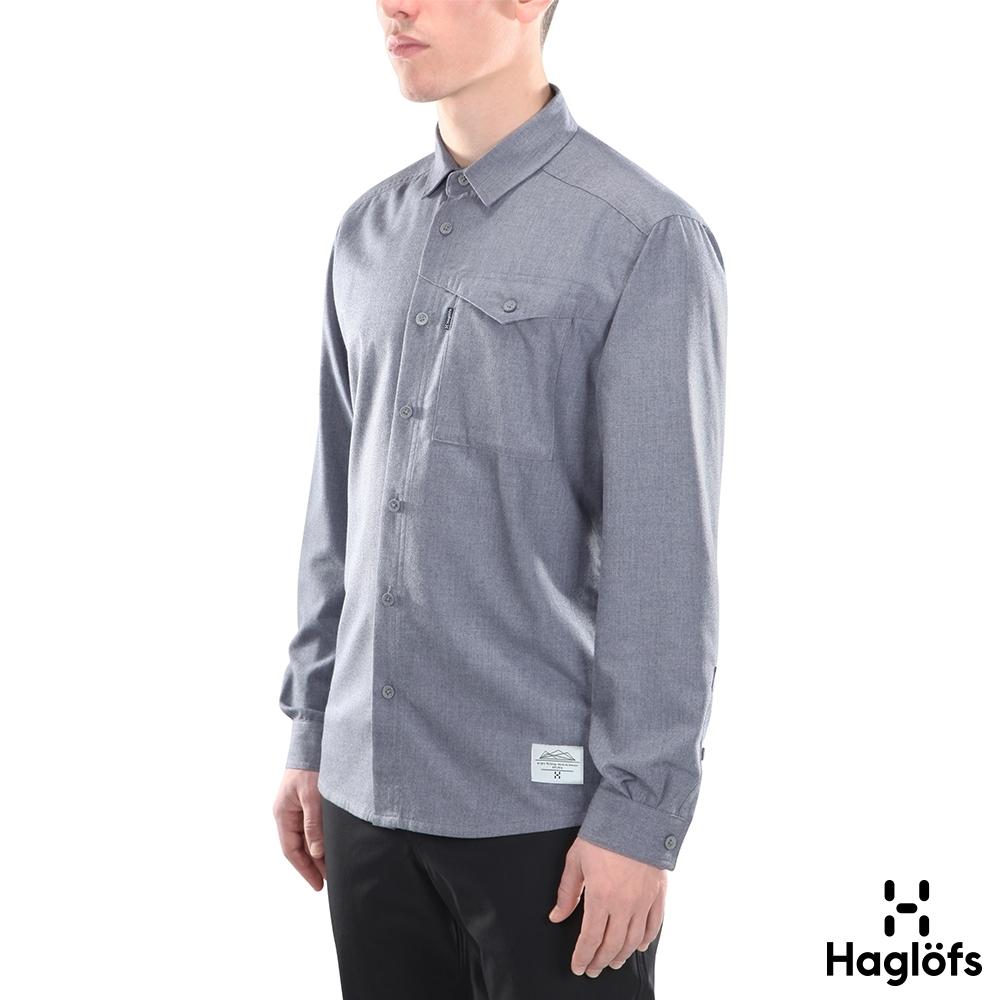 Haglofs 男 Bjorn 保暖 法蘭絨 長袖襯衫 塔恩藍色