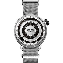 BOMBERG 炸彈錶 BB-01 米蘭帶手錶-銀/43mm