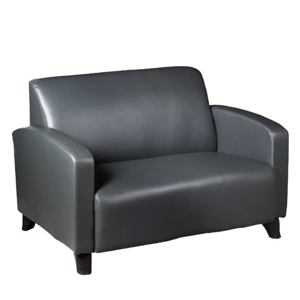 綠活居 納莎時尚皮革二人座沙發椅(二色可選)-131x76x96免組