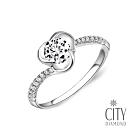 City Diamond引雅『交織玫瑰』35分結婚鑽石戒指