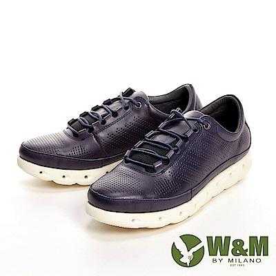 W&M 高彈力減壓輕量慢跑休閒 女鞋-藍(另有紅、黑)