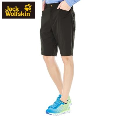 【Jack wolfskin 飛狼】男 彈性快乾休閒短褲『深咖啡』