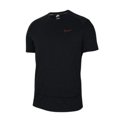 Nike T恤 Training Shirts 吸濕排汗 男款 健身 重訓 運動 圓領 快乾 黑 橘 CU5008010