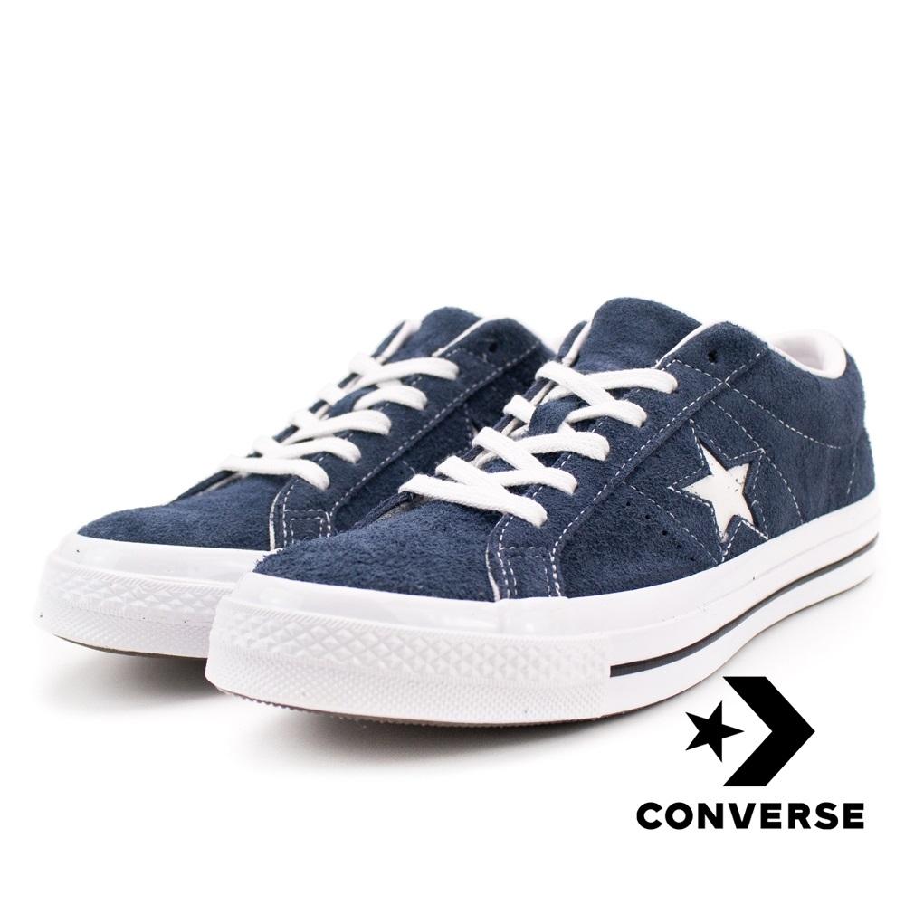 CONVERSE-ONE STAR OX男女休閒鞋-深藍