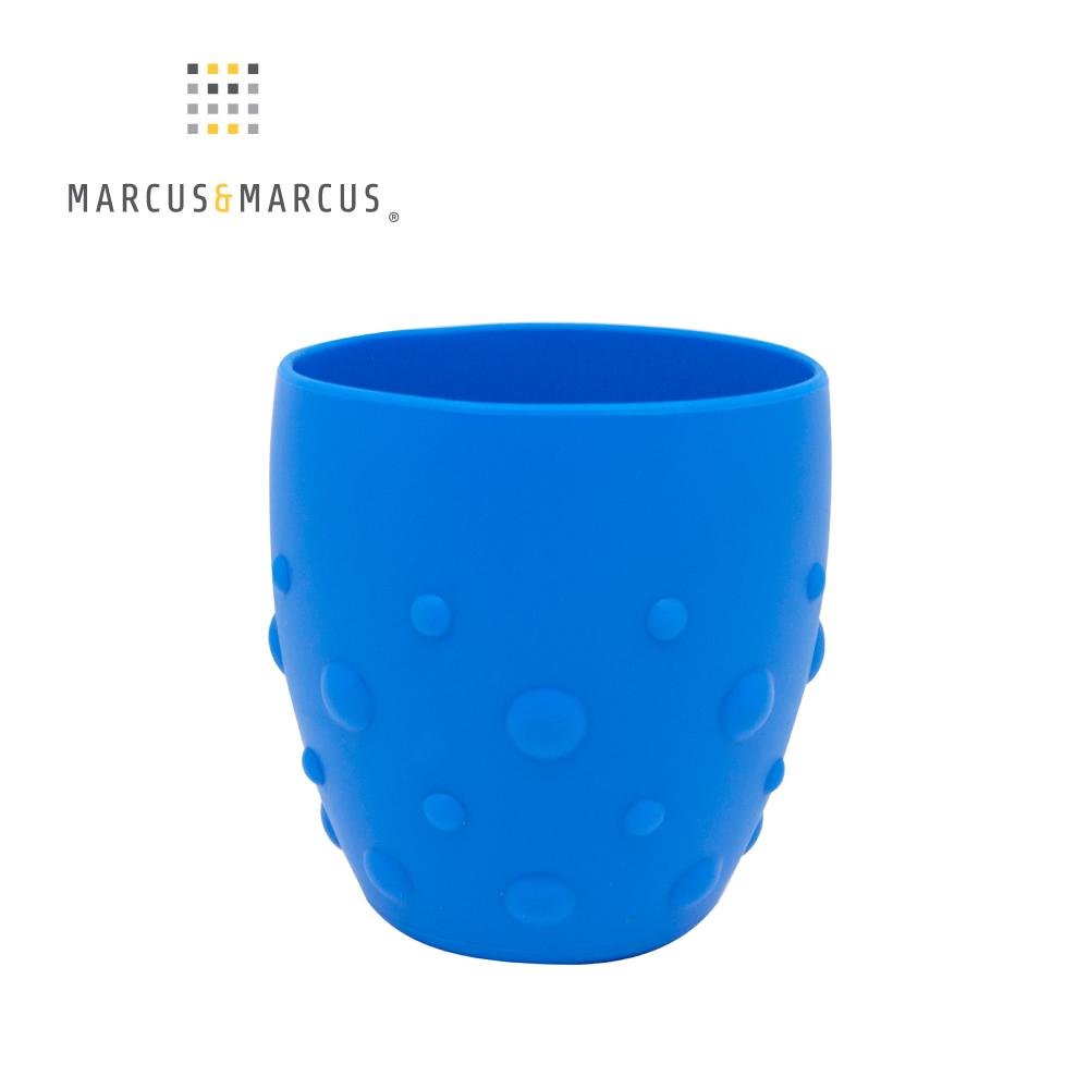 【MARCUS&MARCUS】動物樂園矽膠防滑學習杯-河馬(藍)
