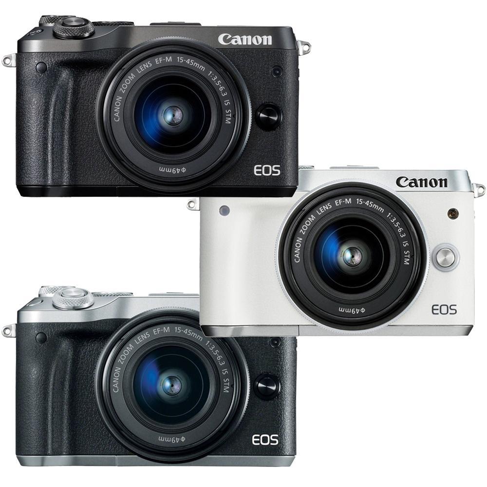 【Canon】EOS M6 15-45mm IS STM 單鏡組(公司貨)