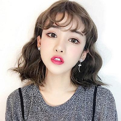 梨花HaNA 韓國S925銀針不對稱水鑽玫瑰花王后耳環
