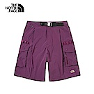 The North Face北面女款紫紅色防潑水短褲|3V543YE