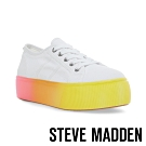 STEVE MADDEN-EMMI個性街頭厚底綁帶休閒鞋-彩虹色