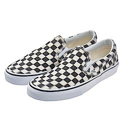 (男)VANS Classic Slip-On 眩暈棋盤格休閒懶人鞋*黑白