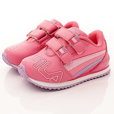 FILA頂級童鞋款 雙絆帶後穩定款 EI55R-295桃(小童段)0