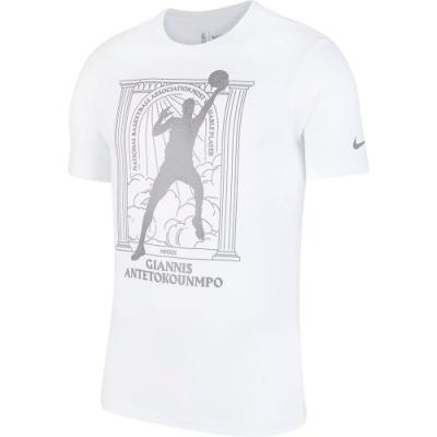NIKE 短袖上衣  慢跑 健身 運動  白 男款 CT4015100 AS NBA M NK DRY TEE MVP2 PLR G