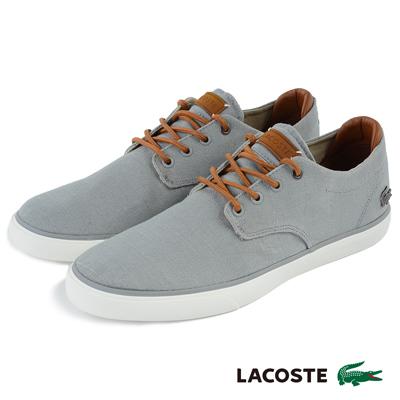 LACOSTE 男用休閒鞋-灰色