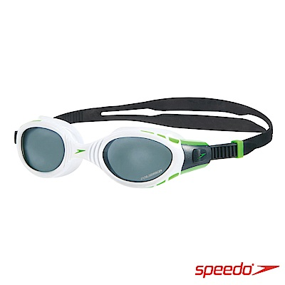 SPEEDO 成人進階偏光泳鏡 Futura Biofuse Polarised 白-灰
