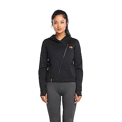 The North Face北面女款黑色吸濕透氣連帽外套|3LBJJK3