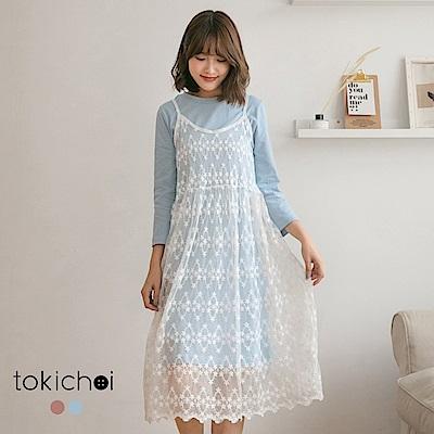 東京著衣 onni最愛兩件式蕾絲洋裝-S.M(共二色)