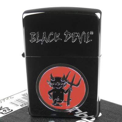 ZIPPO 日系~BLACK DEVIL黑惡魔黑冰鏡面打火機