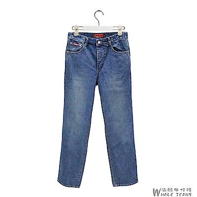 WHALE JEANS 男款活耀個性丹寧中腰直筒牛仔長褲-3色