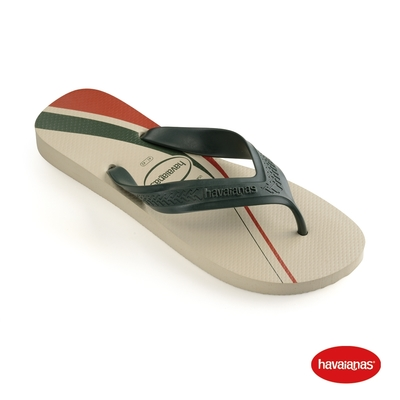 Havaianas哈瓦仕 拖鞋 夾腳拖 人字拖 極簡設計 巴西 男鞋 米色 4141403-0121M Top Max Basic