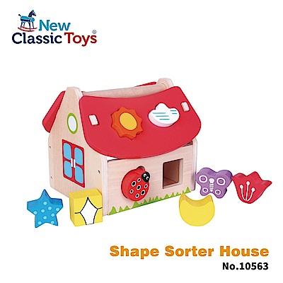 荷蘭New Classic Toys 寶寶認知學習形狀故事屋 10563