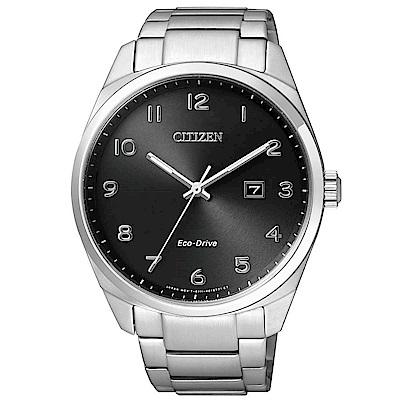 CITIZEN 時尚風格光動能腕錶(BM7320-87E)-黑