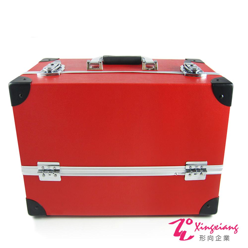 Xingxiang形向 復古皮革手提化妝箱(英倫風/ 紅) 6K-26-1