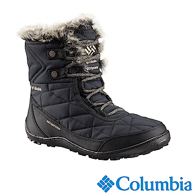 Columbia 哥倫比亞 女款-防水自體發熱保暖雪靴-黑色 UBL59310BK