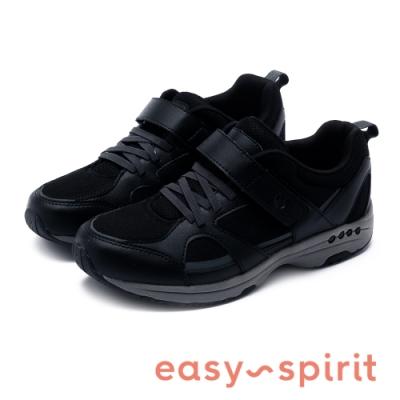 Easy Spirit-SETREBLE3  輕量系列 素面魔鬼氈彈力休閒鞋-黑色