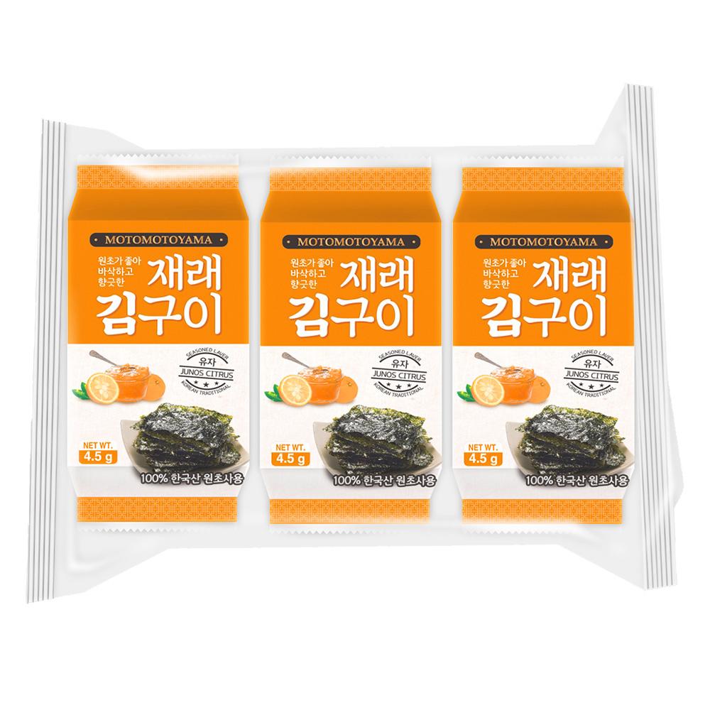 元本山 朝鮮海苔柚香風味(4.5gx3包)