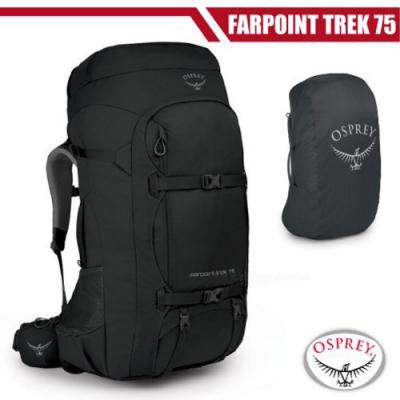 OSPREY 新款 Farpoint Trek Pack 75L 多功能自助旅行包_黑 R