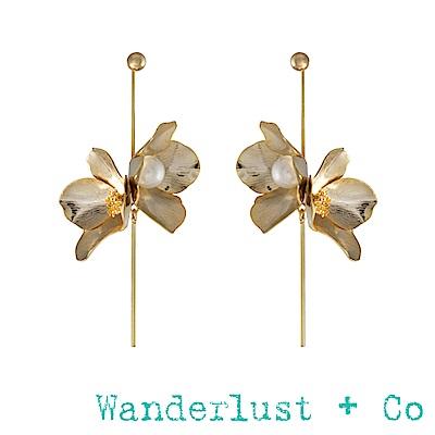 Wanderlust+Co瑪雅女神珍珠耳環