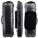 JYC Music JV-4002黑色碳纖大斜紋~4/4小提琴四方盒(具備樂譜收納袋)
