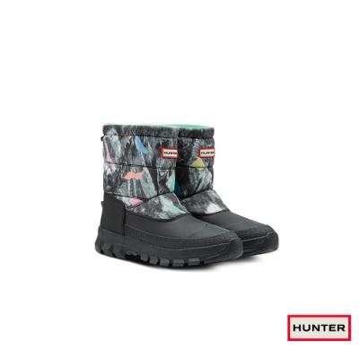 HUNTER - 男鞋-短筒雪靴 - 黑