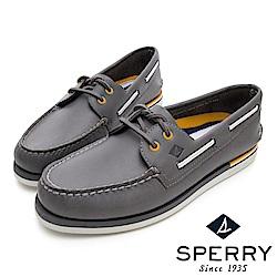 SPERRY 手工縫製時尚經典帆船鞋(男)-灰