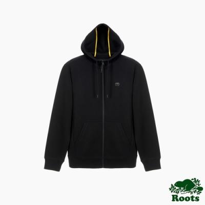 Roots男裝-城市悠遊系列 連帽外套-黑色