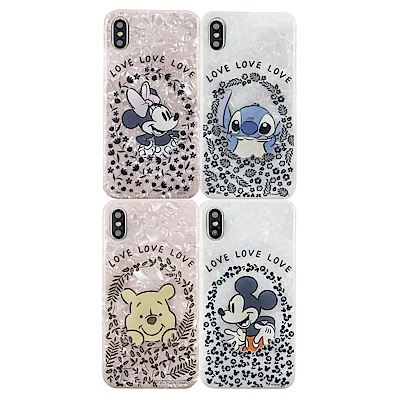 Disney迪士尼iPhone X/Xs五彩貝殼系列手機殼_花圈系列 @ Y!購物