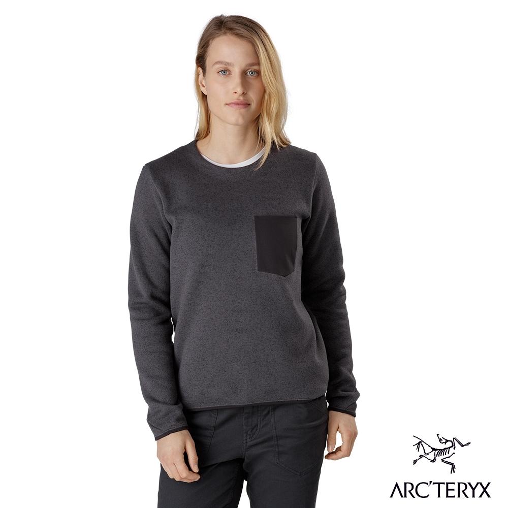 Arcteryx 始祖鳥 女 24系列 Covert 刷毛套頭衫 威士忌雜褐