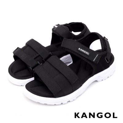 【KANGOL】寬版時尚休閒涼鞋-共兩色