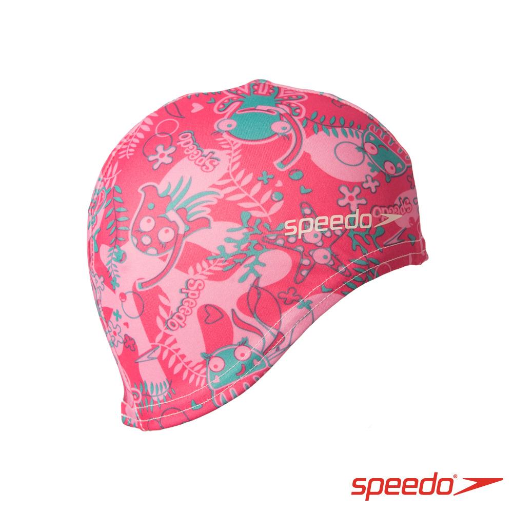 SPEEDO 兒童尼龍泳帽 Sea Squad 粉紅