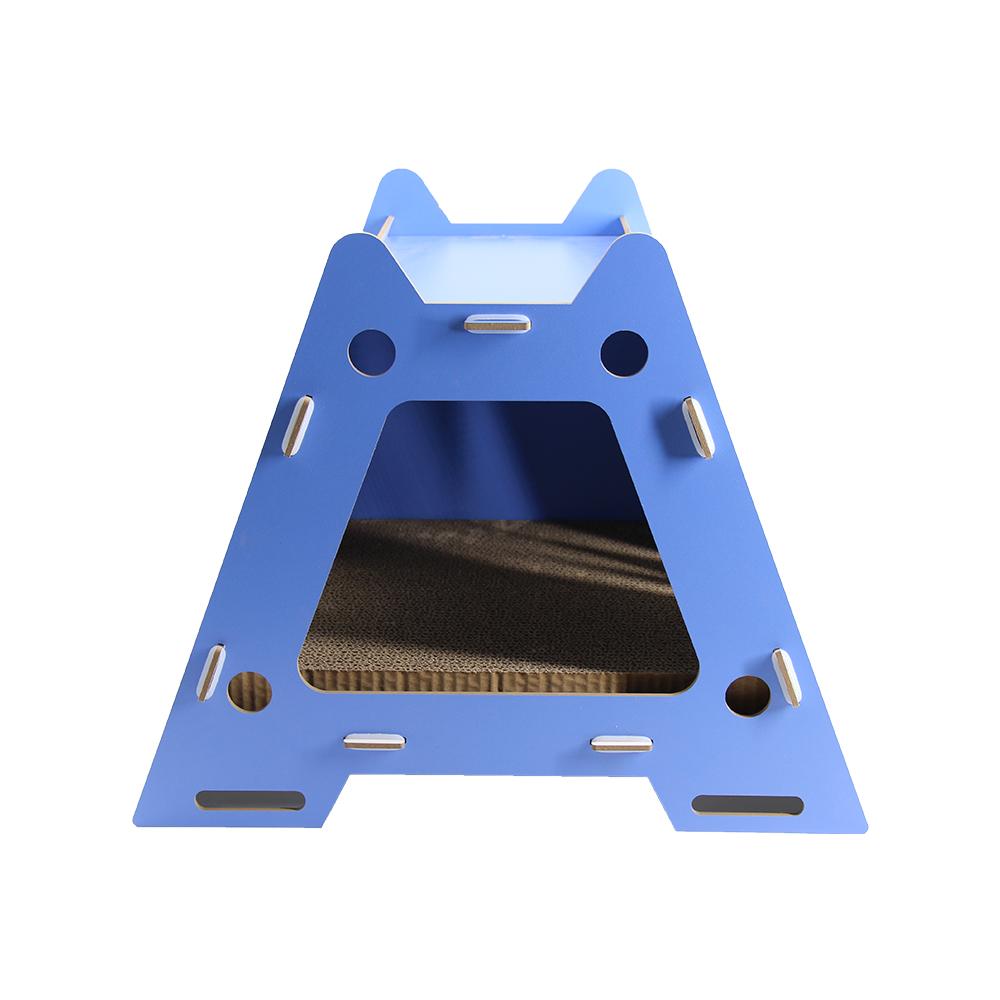 梯形透氣貓窩(藍)