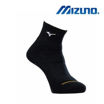 Mizuno美津濃 男運動厚底短襪 (6雙入) 黑x白 32TX90G191Q