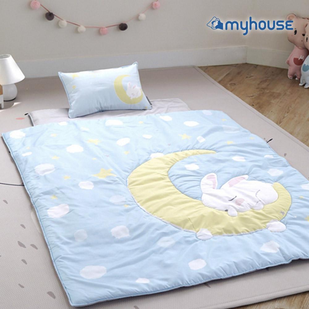 【BabyTiger虎兒寶】Myhouse  韓國防蟎兒童睡袋 - 月兔藍